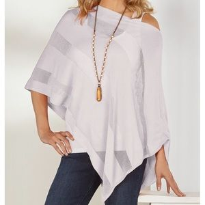 Soft Surroundings Mesh Stripe Poncho